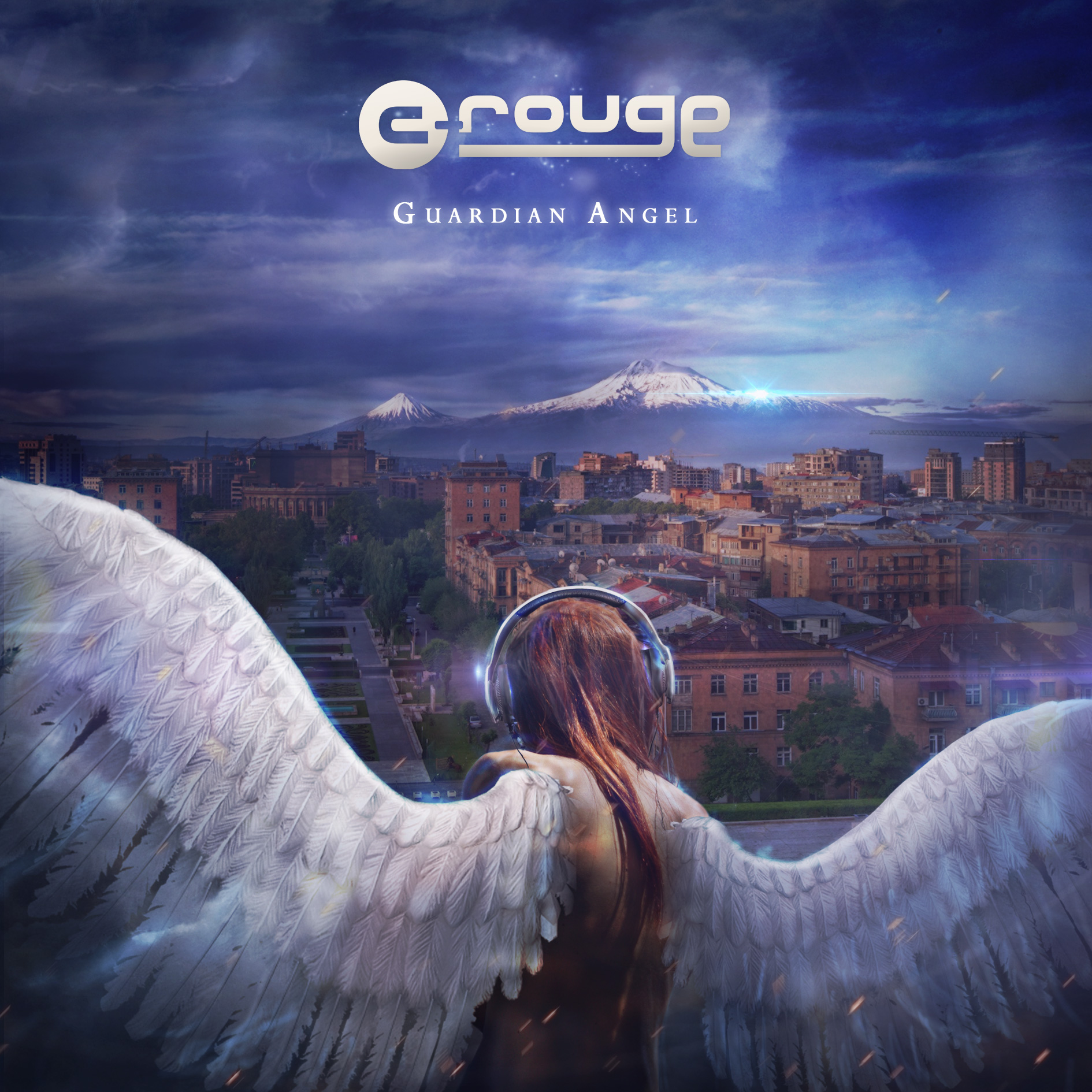 "C-rouge on his third album ""Guardian Angel"": ""It explores the development of various genres. It marks a significant change from the previous two albums—it has live instrumental music and collaborations with musicians from Armenia and vocalists from Lebanon. It also features much less electronic music compared to the previous albums. The tracks offer a taste of electronic orchestral music. (Album art courtesy of C-rouge)"